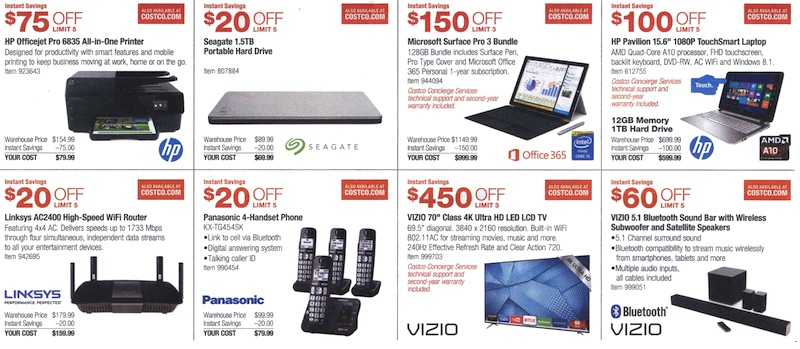 Costco Coupon Book August 6, 2015 - August 30, 2015. Page 2