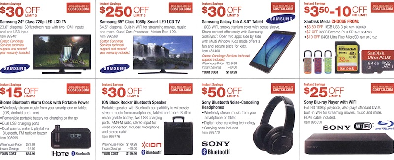 Costco Coupon Book August 6, 2015 - August 30, 2015. Page 3
