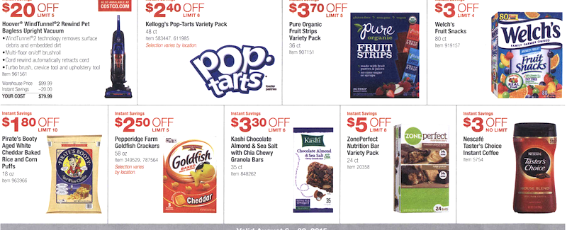 Costco Coupon Book August 6, 2015 - August 30, 2015. Page 5