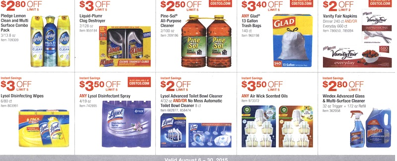 Costco Coupon Book August 6, 2015 - August 30, 2015. Page 9