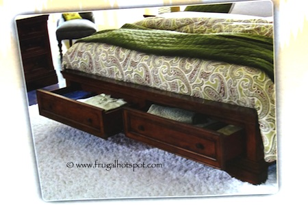 universal furniture broadmoore charlotte king or queen bed with storage drawers costco