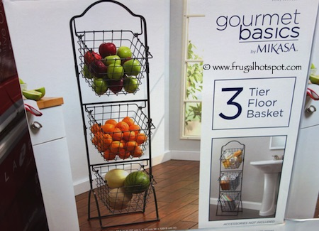 Gourmet Basics by Mikasa 3-Tier Floor Basket Costco