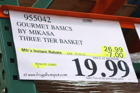 Gourmet Basics by Mikasa 3-Tier Floor Basket Costco Price