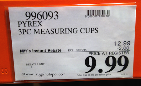 Pyrex 3-Pack Glass Measuring Cups Costco Price