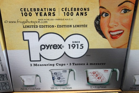 100th Anniversary Limited Edition Pyrex 3-Pack Glass Measuring Cups Costco