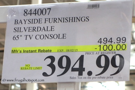 Bayside Furnishings Silverdale TV Console Costco Price