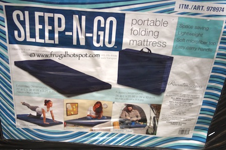 Ace Bayou Sleep-N-Go Portable Folding Mattress Costco