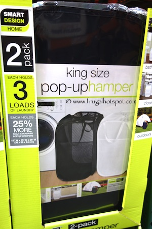 Smart Works 2-Pack Pop Up Hamper Costco