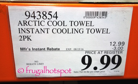 Arctic Cool Cooling Towel 2-Pack Costco Price | Frugal Hotspot