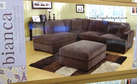Emerald Home Bianca 3-Pc Fabric Sectional Costco