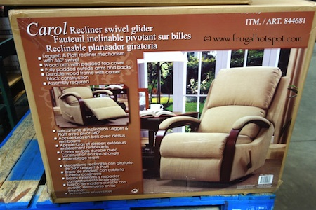Synergy Home Carol Recliner Swivel Glider Costco