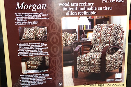 Synergy Home Morgan Wood Arm Recliner Costco