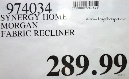 Synergy Home Morgan Wood Arm Recliner Costco Price