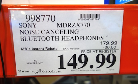 Sony Wireless Noise Canceling Headphones Costco Price