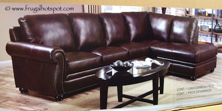 Marks Amp Cohen Savoy 2 Pc Leather Sectional Costco Frugal