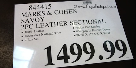 Marks & Cohen Savoy 2-Pc Leather Sectional Costco Price