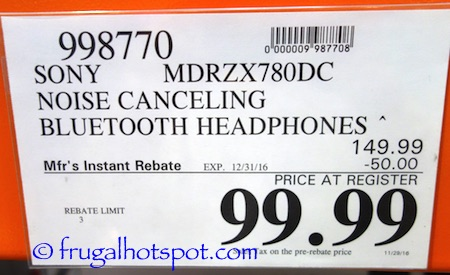 Sony Wireless Noise Canceling Headphones Costco Price | Frugal Hotspot