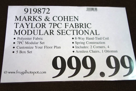 Marks & Cohen Taylor 7-Pc Fabric Modular Sectional Costco Price