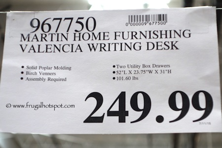Martin Furniture Valencia Writing Desk Costco Price