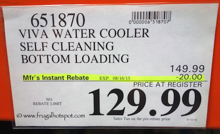 Viva Self Cleaning Water Cooler Costco Price