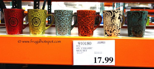 Bia Stoneware Mugs 6-Piece Costco Price