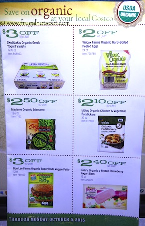 Costco ORGANIC Coupon Book: September 8, 2015 - October 5, 2015. Page 6