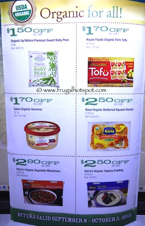 Costco ORGANIC Coupon Book: September 8, 2015 - October 5, 2015. Page 7