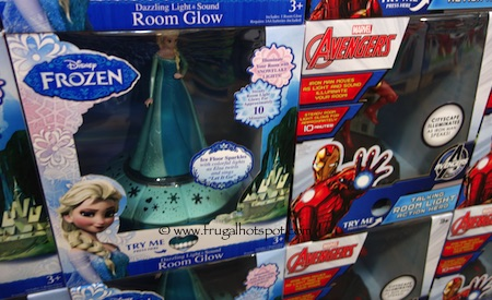 Disney Frozen Or Marvel Avengers Light And Sound Room Glow