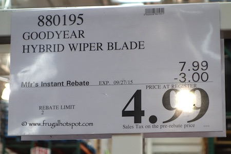 Goodyear Hybrid Wiper Blade Costco Price