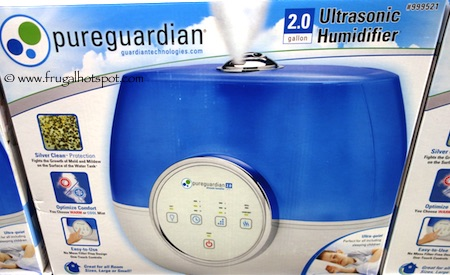 Pure Guardian Ultrasonic Mist Humidifier Costco