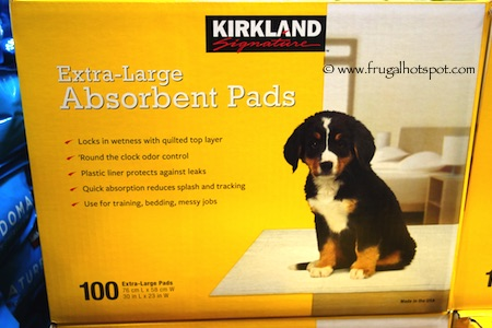 Kirkland Signature Extra-Large Absorbent Pads for Dogs 100 Count Costco