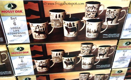 Mossy Oak Lodge Life Stoneware Mugs 6 Piece Costco