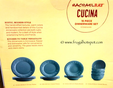 Rachael Ray Cucina 16-Piece Dinnerware Set Costco  sc 1 st  Frugal Hotspot & Rachael Ray Cucina 16-Piece Dinnerware Set Costco | Frugal Hotspot
