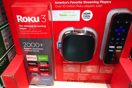 Roku 3 Streaming Player with Enhanced Remote (4230X) Costco