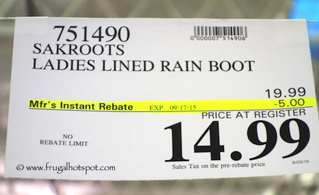 Sakroots Ladies' Faux Fur Lined Rain Boot Costco Price