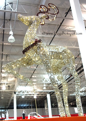 """60"""" Champagne Glitter String Deer with 210 LED Lights Costco"""
