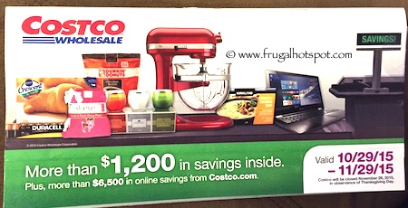 Costco NOVEMBER 2015 Coupon Book 10/29/15 - 11/29/15. Frugal Hotspot