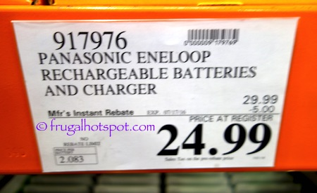 Panasonic Eneloop 12-Count Rechargeable Batteries + Charger Costco Price | Frugal Hotspot