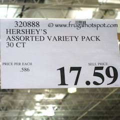 Hershey's Full Size Candy Bars Variety Pack 30 Count Costco Price