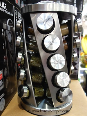 Kamenstein 20 Jar Stainless Steel Spice Rack Costco