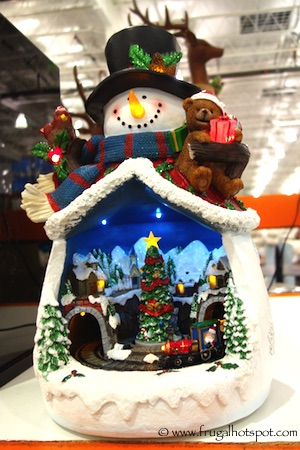 lighted snowman with rotating train costco