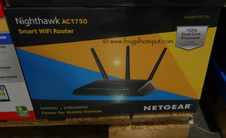 Netgear Nighthawk AC1750 Smart WiFi Dual Band Router Costco