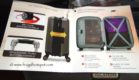 "Ricardo 20"" Hardside Superlight Carry-on Spinner Costco"