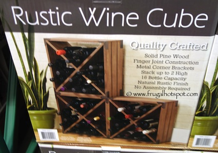Home Traditions Rustic Wine Cube Costco