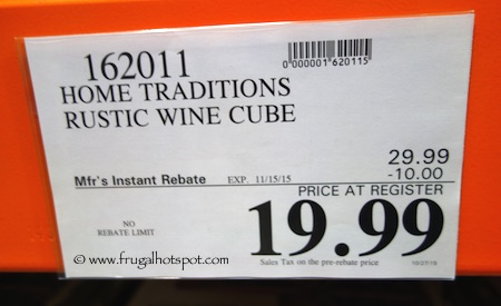 Home Traditions Rustic Wine Cube Costco Price
