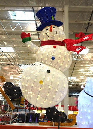 """64"""" Skating Snowman with LED Lights Costco"""