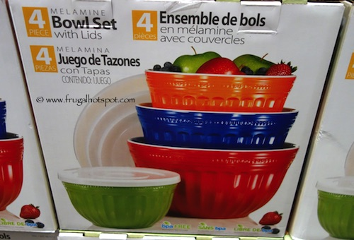 4-Piece Melamine Bowl Set with Lids by Pandex Costco