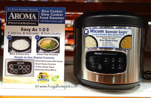 Aroma Stainless Steel Rice/Slow Cooker Combo Costco