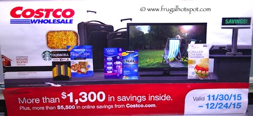 Costco Coupon Book: November 30, 2015 - December 24, 2015.