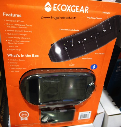 Ecoxgear EcoCarbon Waterproof Bluetooth Speaker Costco